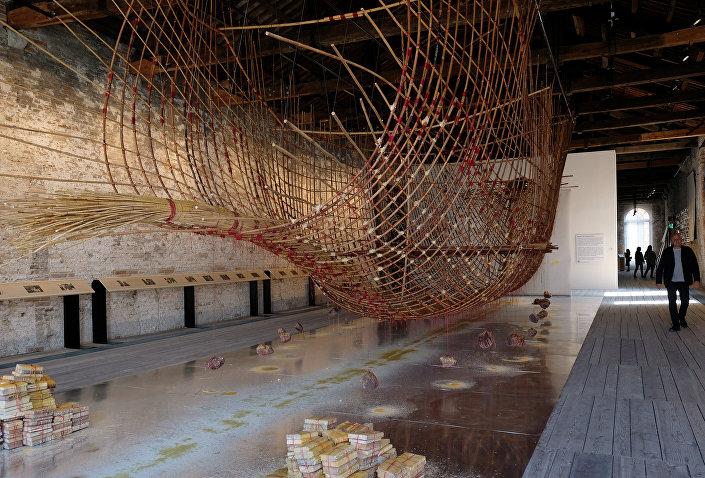 أحد الأعمال المشاركة في بينالي فينسيا للعمارة