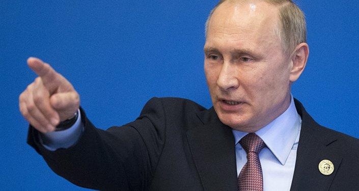 الرئيس الروسي فلاديمير بوتين في الصين
