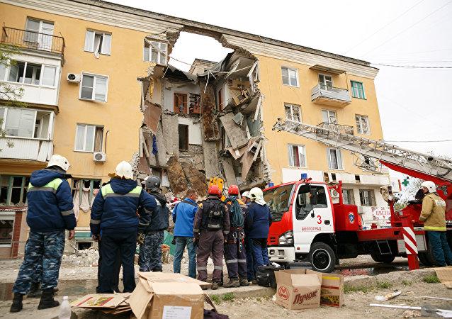 انفجار غاز منزلي في فولغوغراد