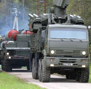 قافلة إس-400 وبانتسير- إس بمقاطعة موسكو