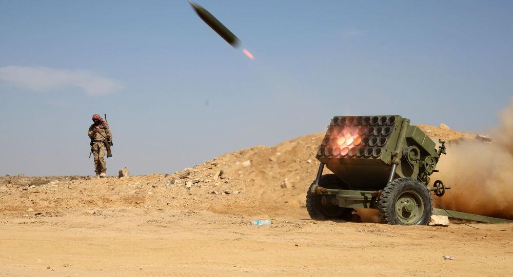 قاذف صاروخي تابع للجان المقاومة الشعبية اليمنية
