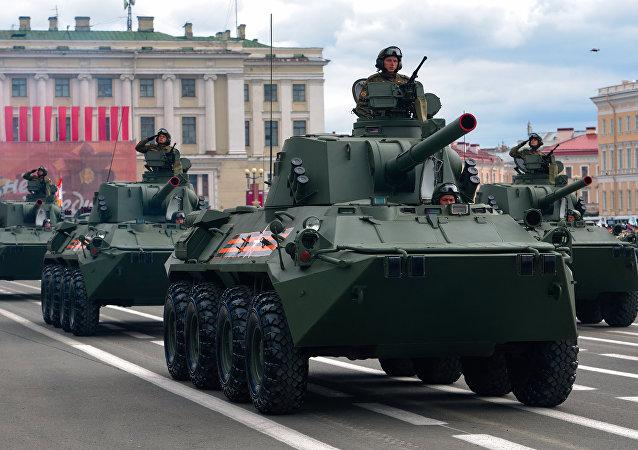 العرض العسكري الروسي في الساحة الحمراء