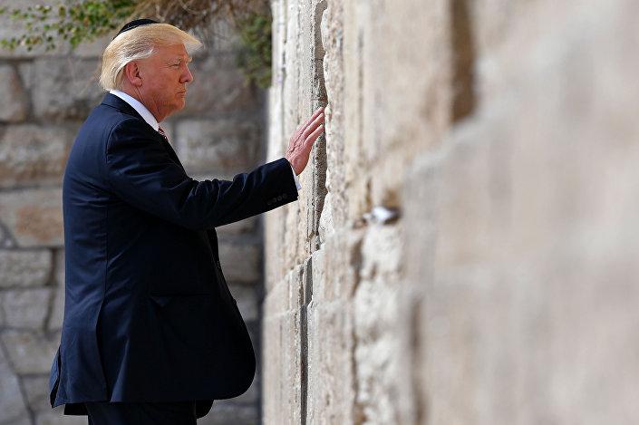 الرئيس الأمريكي دونالد ترامب في القدس، 23 مايو/ آيار 2017