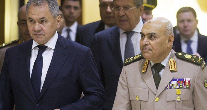 لقاء وزراء خارجية ودفاع روسيا ومصر في القاهرة