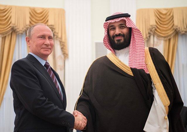 لقاء رئيس روسيا وولي ولي العهد السعودي