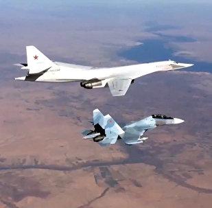 الطيران الروسي سو-30 وتو-160 في سوريا