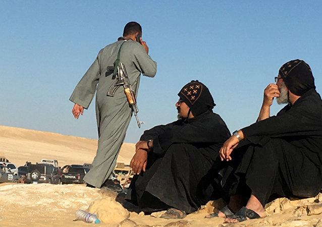 موقع الهجوم الإرهابي في المنيا