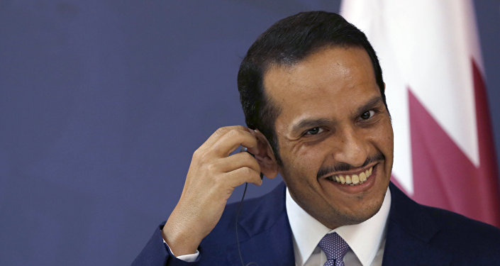 وزير الخارجية القطري محمد بن عبد الرحمن آل ثاني في صربيا