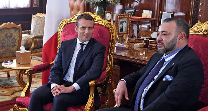 ماكرون وملك المغرب