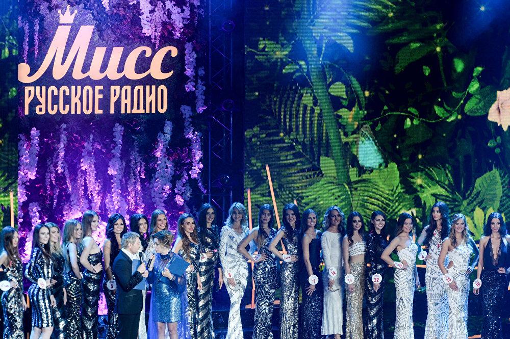 المتسابقات في مسابقة الجمال الوطني ملكة جمال الراديو الروسي