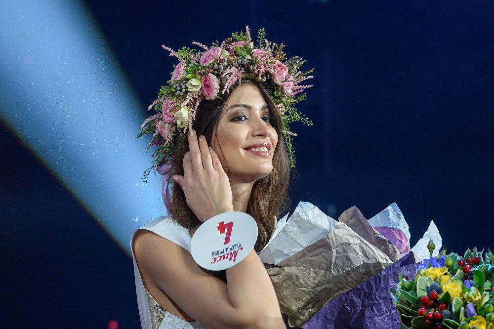 صاحبة المركز الثاني مارغاريتا كورنوسوفا في مسابقة الجمال الوطني ملكة جمال الراديو الروسي