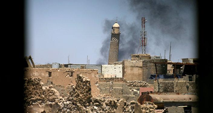 تفجير منارة الحدباء في مدينة الموصل