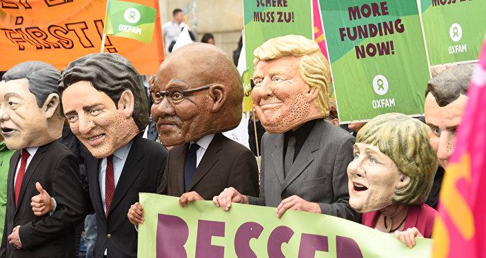 مسيرات في هامبورغ ضد قمة العشرين