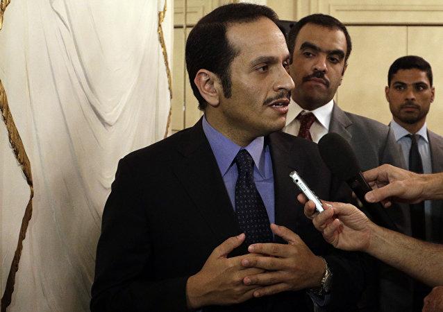وزير الخارجية القطري محمد بن عبد الرحمن آل ثاني في روما، إيطاليا 1 يوليو/ تموز 2017