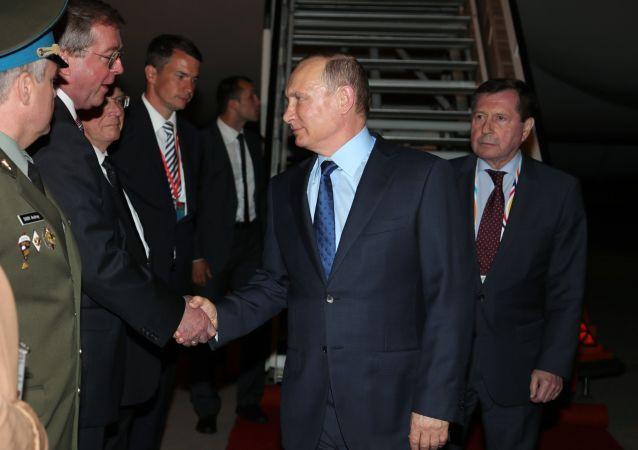قمة مجموعة العشرين - رئيس روسيا الاتحادية فلاديمير بوتين في هامبورغ، ألمانيا 6 يوليو/ حزيران 2017
