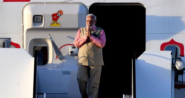 قمة مجموعة العشرين - رئيس وزراء الهند ناريندرا مودي في هامبورغ، ألمانيا 6 يوليو/ تموز 2017