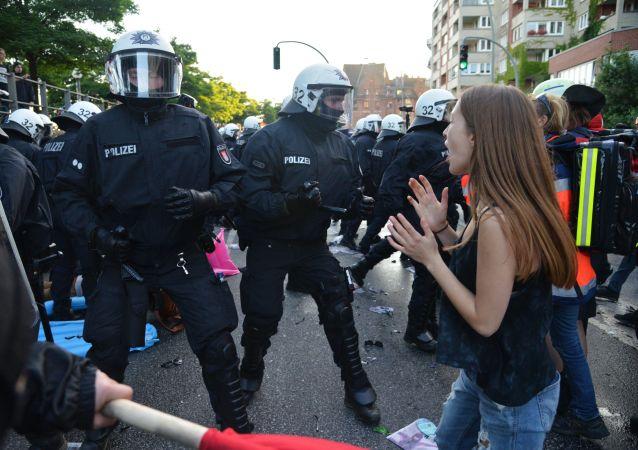 تظاهرات ضد قمة مجموعة العشرين في هامبورغ، ألمانيا  يوليو/ تموز 2017