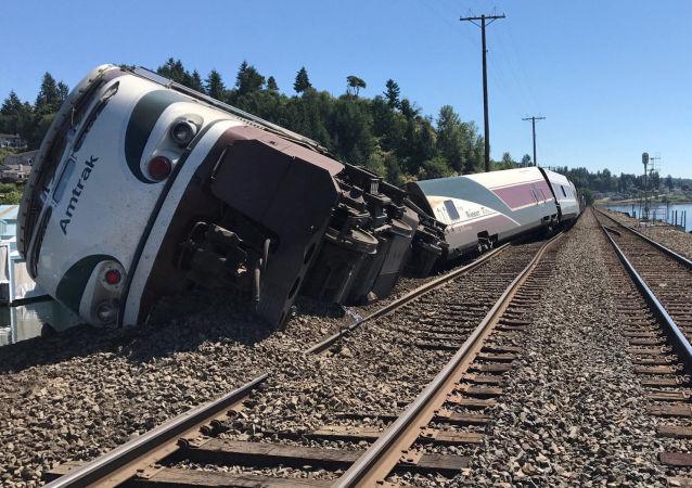 حادث قطار في واشنطن، الولايات المتحدة 2 يوليو/ تموز 2017
