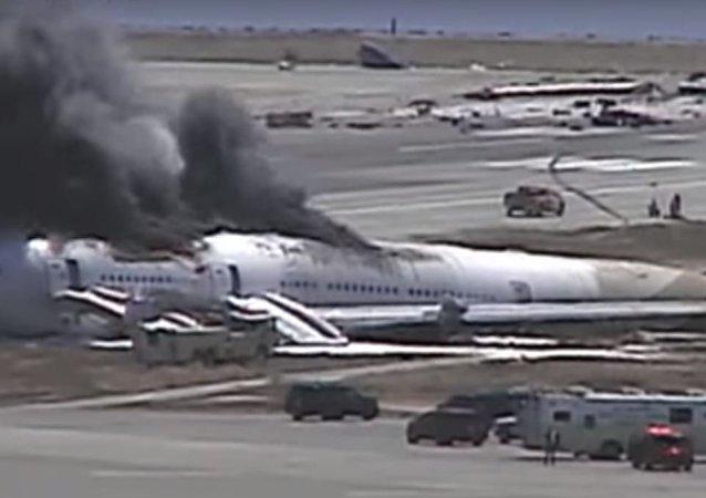 لجظة تحطم طائرة كوريا جنوبية