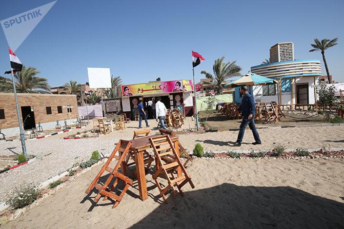 مقهى القاهرة قطاع غزة