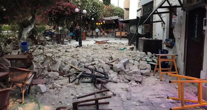 وقوع زلزال في جزيرة كوس اليونانية، اليونان