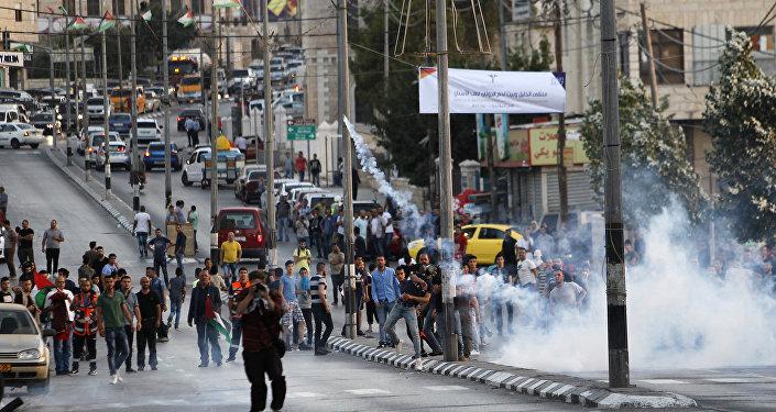 مواجهات بين الفلسطينيين وقوات الأمن الإسرائيلية في بيت لحم، الضفة الغربية، فلسطين 19 يوليو/ تموز 2019
