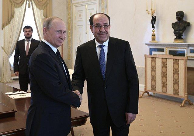 الرئيس الروسي فلاديمير بوتين يلتقي مع نائب الرئيس العراقي نوري المالكي في موسكو، 25 يوليو/تموز 2017