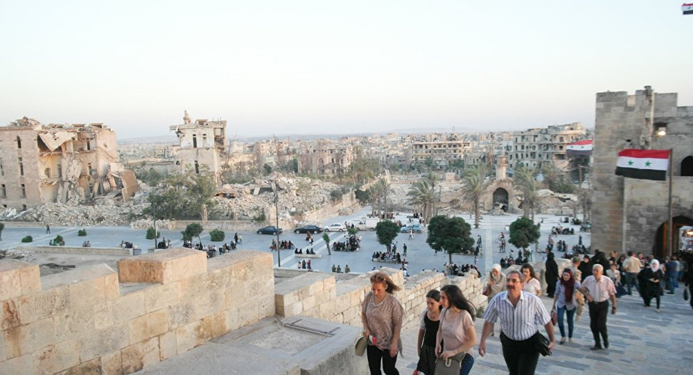 حلب تتحدى الظلام...وتغني للحب والسلام...