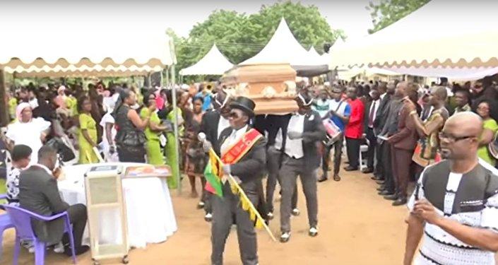 مراسم الدفن في غانا