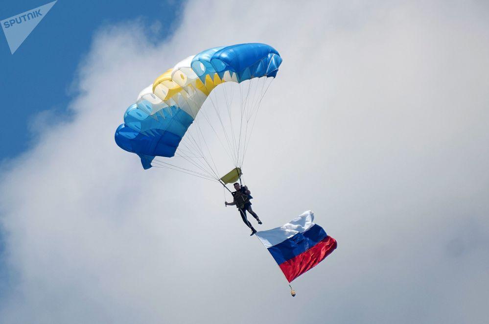 أثناء مراسم  الاحتفال بيوم القوات البحرية الروسية في سيفاستوبل، القرم، روسيا