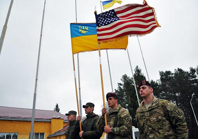 الجنود الأمريكيون في أوكرانيا