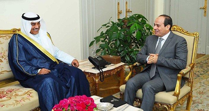 السيسي ووزير الخارجية الكويتي