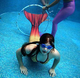 تدريب حوريات البحر في مدينة ريو دي جانيرو، البرازيل