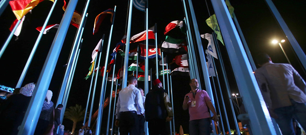 المشاركون في معرض دمشق الدولي
