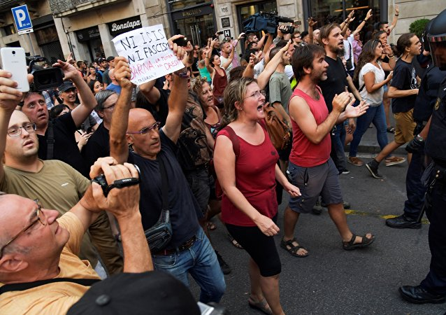 مظاهرات في برشلونة