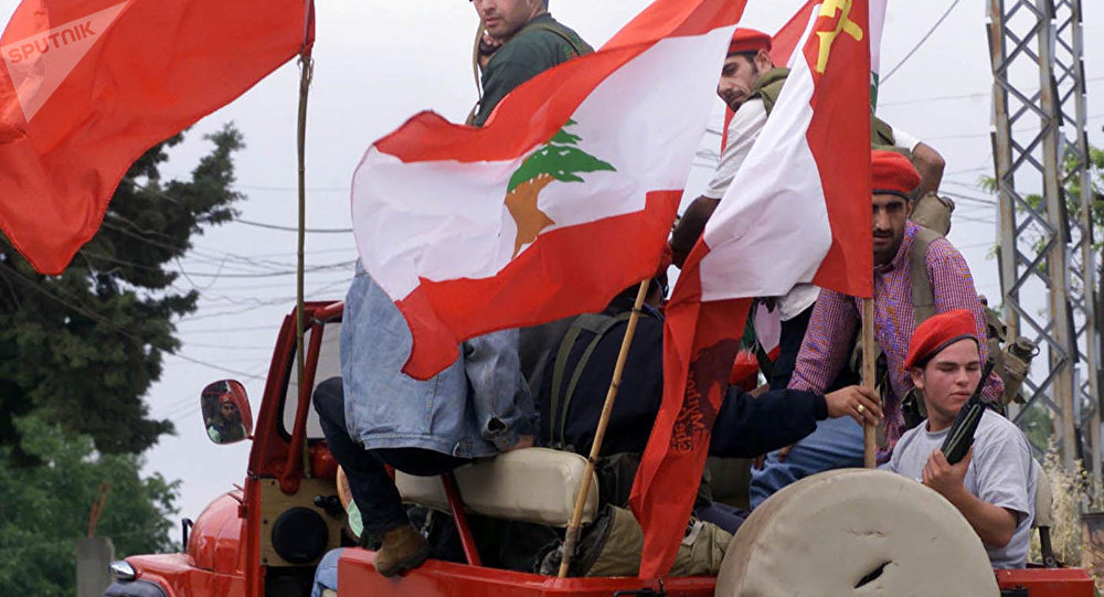 عناصر من الحزب الشيوعي اللبناني في لبنان
