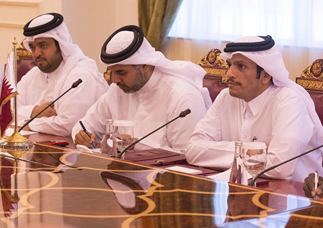 مباحثات وزير الخارجية الروسية سيرغي لافروف ووزير الخارجية القطري محمد بن عبد الرحمن آل ثاني في الدوحة، قطر 30 أغسطس/ آب2017