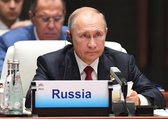 الرئيس الروسي فلاديمير بوتين خلال  قمة بريكس