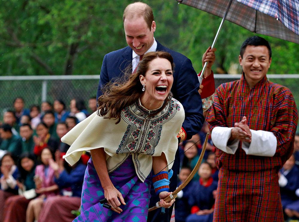 دوق ودوقة كامبريدج خلال زيارتهما إلى مملكة بوتان