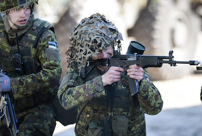 تمرين عسكري في استونيا