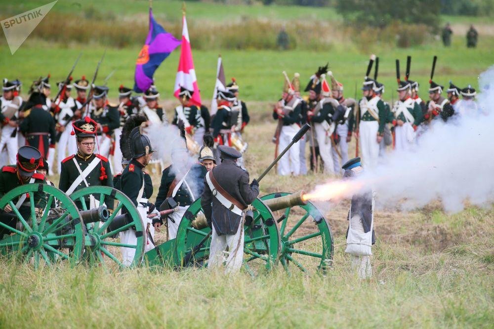 المهرجان الدولي يوم بورودين -2017 لـ ذكرى معركة بورودينو (عام 1812) في ضواحي موسكو، روسيا