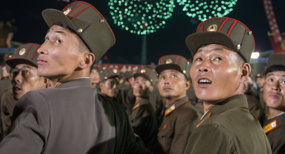 الاحتفال بنجاح تجربة اطلاق قنبلة هيدروجينية في بيونغ يانغ، كوريا الشمالية 6 سبتمبر/ أيلول 2017