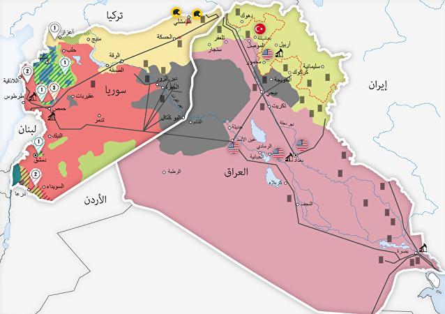 خارطة توازن القوة في العراق وسوريا