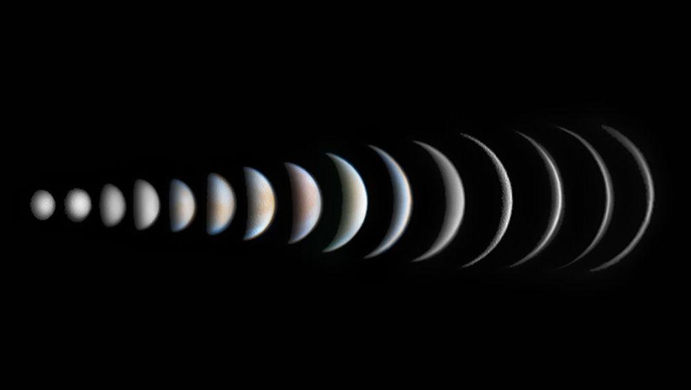صورة تطور طور فينوس للمصور روجر هاتشينسون، الذي فاز بترشيح الكواكب والمذنبات والكويكبات في مسابقة رؤية المصور لعلم الفلك لعام 2017