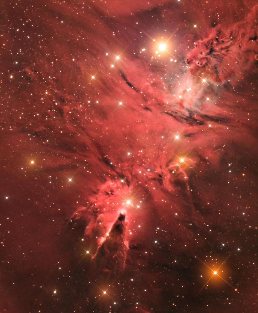 صورة لسديم المخروط (إن جي سي 2264) من قبل المصور جيسون جرين، الذي حصل على جائزة خاصة في مسابقة رؤية المصور لعلم الفلك لعام 2017