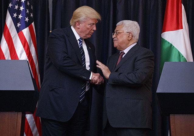 اجتماع الرئيس الفلسطيني محمود عباس مع نظيره الأمريكي دونالد ترامب في البيت الأبيض، الولايات المتحدة 19 سبتمبر/ أيلول 2017