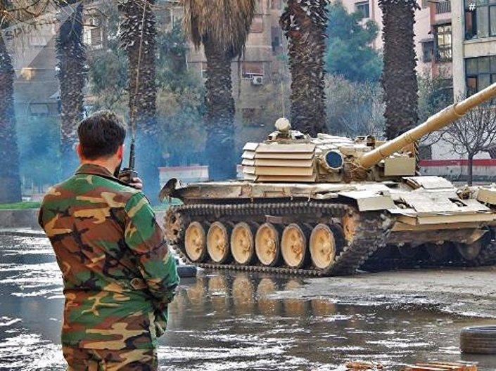 دبابة تي-72أم1 السورية