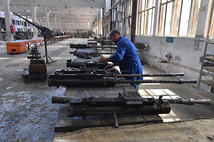 مصنع تصليح المدافع في محافظة حماة السورية