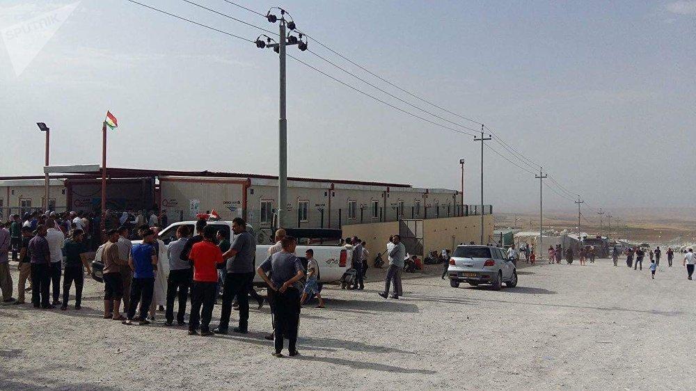 استفتاء إقليم كردستان في مخيم قارية