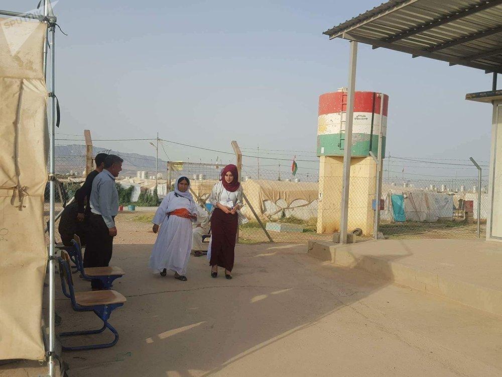 استفتاء إقليم كردستان في مخيم جم مشكو
